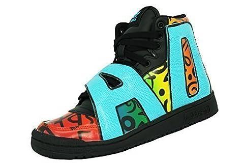 Adidas JS LETTERS MULTICOLOR Schwarz Multicolor Leder Herren Sneakers Schuhe Jeremy Scott Neu