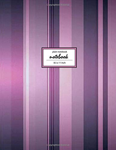 Notebook: Vintage Purple Lines - Unlined/Unruled/Plain Notebook - (8.5 x 11 inches) Large - 110 Pages