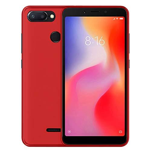 TBOC® Funda de Gel TPU Roja para Xiaomi Redmi 6 - Redmi 6A (5.45 Pulgadas) de Silicona Ultrafina y Flexible [No es Compatible con el [Xiaomi Redmi 6 Pro]