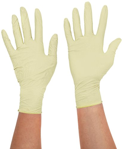 handsafe hea00016 en polypropylène, gants en latex, petit, naturel (Lot de 100)