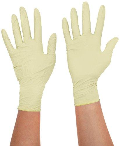 handsafe hea00016en polypropylène, gants en latex, petit, naturel (Lot de 100)