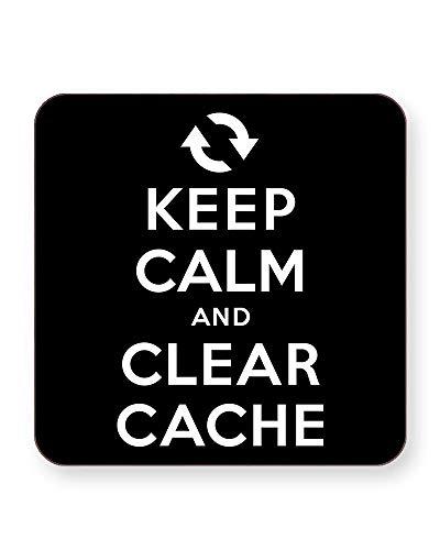 Keep Calm and Clear Cache - Internet Humour - Getränkeuntersetzer - einzeln oder als 4er Pack - quadratisch oder rund, SQUARE Individual