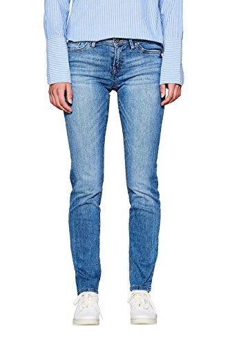 edc by ESPRIT Damen Slim Jeans 997CC1B822, Blau (Blue Medium Wash 902), W27/L32