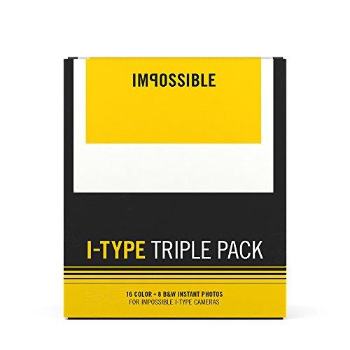 Galleria fotografica Impossible 4598I Type Triple Pack (2X Color e 1X B & W film) per i 1fotocamera/instant Lab senza batterie Bianco