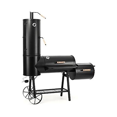 Klarstein Monstertruck Smoker Barbecue à charbon rustique (style western, 3 unités de barbecue, 4 étages de 1250 cm², 5200 cm², acier) -