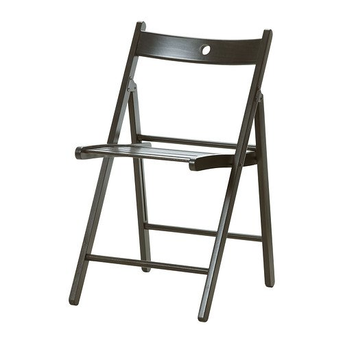 IKEA TERJE Klappstuhl in schwarz; aus Massivholz