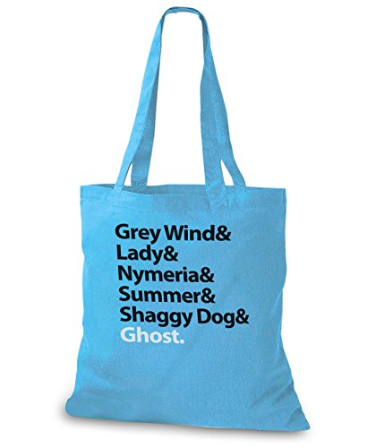 StyloBags Jutebeutel / Tasche Grey Wind & Lady & Nymerial & Summer & Shaggy Dog & Ghost Sky