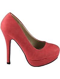 High Heel Pumps Lady Bug en imitación de piel de napa Rojo