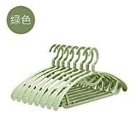 WANGYG Hanger wide shoulders Durable strong plastic, non-slip adult, suit hanger wardrobe, clothing jacket with non-slip surface/green