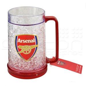 Official Football Merchandise Choppe réfrigérante aux couleurs de votre équipe de football favorite Pinte Parfait pour offrir, Arsenal, 16oz