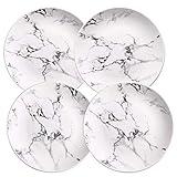 KLNR Platte 4-TLG Set 6 Oder 8 Oder 10 Zoll Marmor Teller Keramik Geschirr Geschirr Marmor Geschirr, 6 Zoll