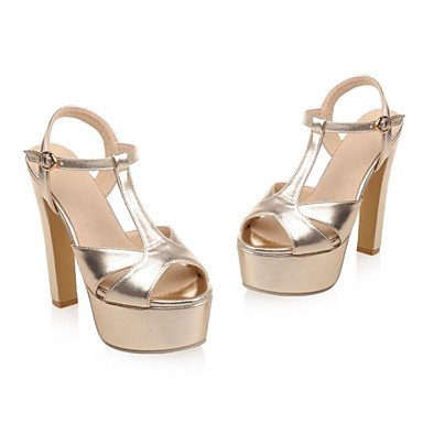 LvYuan Da donna-Sandali-Formale Serata e festa-Club Shoes-A stiletto-Vernice Materiali personalizzati-Argento Dorato Gold