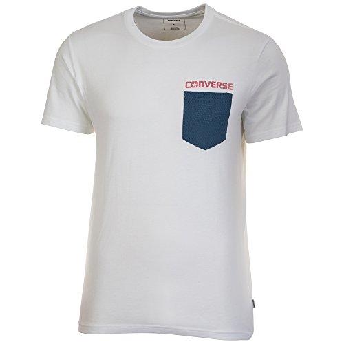 Converse Herren Americana Mesh Pocket T-Shirt, Mehrfarbig, S (T-shirt Aus Baumwolle Americana)