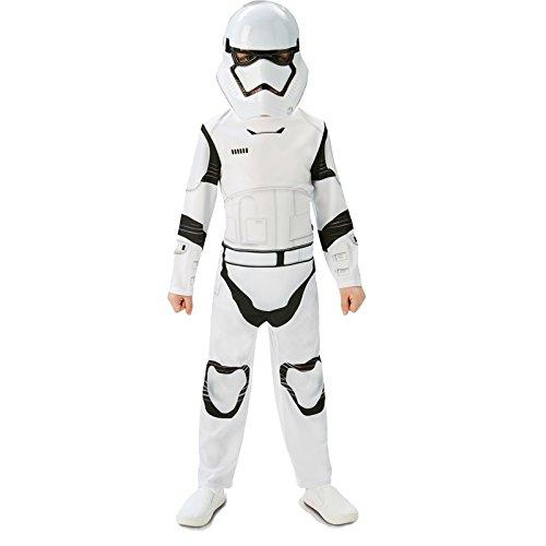 Rubie's Star Wars - Disfraz de Storm Trooper para niños, color blanco/ negro, talla 5 - 6 años (M)