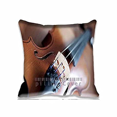 Personalized Patterned Close Up Violin Pillow Covers Decor - music Nice Living Room Pillowcase/Taies d'oreillers Set , Fantasy Pillow case/Taies d'oreillers for Couples
