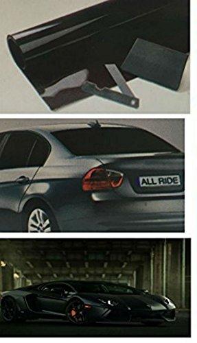 ULTRA BLACK Car Van Limo Window Tint Film Reduce Sun Glare Universal Fit 3m x 50cm Kit by - Windows-security-film