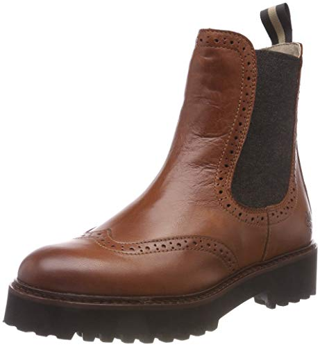 Marc O'Polo Damen Chelsea Boots, Braun (Cognac 720), 40 EU