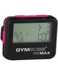 Gymboss miniMAX Minuteur d'intervalle et chronomètre – Coque noir/rose softcoat