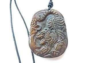 chinesische xiuyan jade geschnitzt fei cui tierkreiszeichen sternzeichen tiger amulett mit. Black Bedroom Furniture Sets. Home Design Ideas