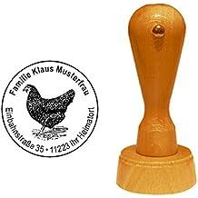 Bastel- & Künstlerbedarf Stempel « Eier Von Glücklichen Hühnern 07 » Hühner Gockel Hahn Hühnerhof Bauer