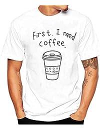 Camiseta para Hombre, ❤️Xinantime Hombres Que Imprimen La Camisa de Las Tees Camiseta Manga