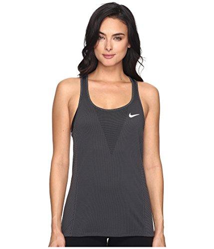 Nike Damen W Nk Znl Cl Relay Tank top, Grau (Dark Grey), M