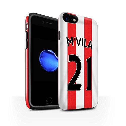 Offiziell Sunderland AFC Hülle / Glanz Harten Stoßfest Case für Apple iPhone 7 / Torwart Muster / SAFC Trikot Home 15/16 Kollektion M'Vila