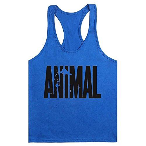 Waylongplus, camiseta deportiva de tirantes para hombre con texto 'Animal'