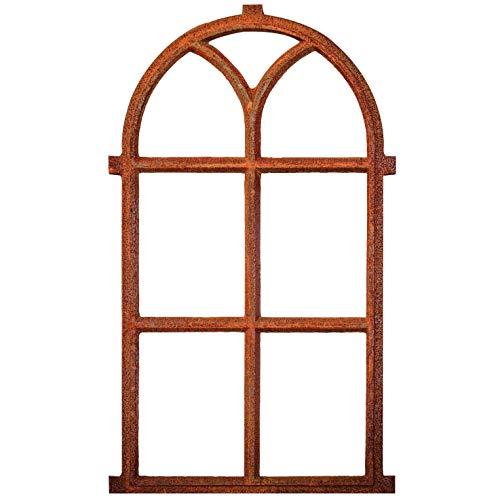 aubaho Nostalgie Stallfenster 100x59cm Fenster Scheunenfenster Rostig antik Stil Eisen