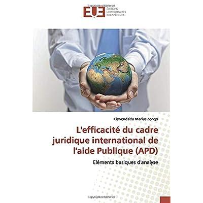 L'efficacité du cadre juridique international de l'aide Publique (APD): Eléments basiques d'analyse