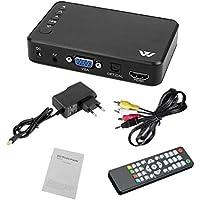 Disco Duro Reproductor Multimedia de DVD, HD 1080P HDMI VGA AV USB de Disco de DVD, para el hogar/Oficina / Coche