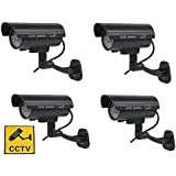 4xQuality Dummy Fake Outdoor Indoor CCTV Security Camera Blinking W/led Nightcam