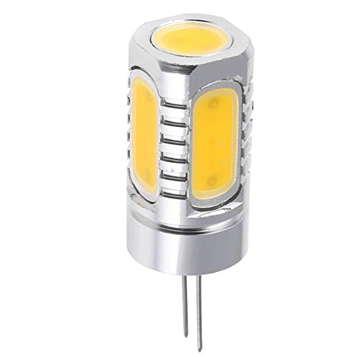 Preisvergleich Produktbild DC 12V 7.5W Dimmbare G4 COB LED Lampe für Spotlight Kronleuchter Lampe (WW)