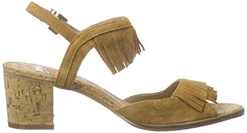 SPM - Avocet Cork Sandal, Scarpe col tacco con cinturino a T Donna Marrone (Braun (Chestnut 010))