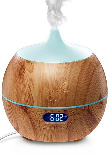 ArtNaturals Difusor de Aceites Esenciales – 400ml – Bluetooth Humidificador Ultrasónico Aromaterapia – 7-Color LED – Para Hogar, Oficina, Dormitorio y Baño