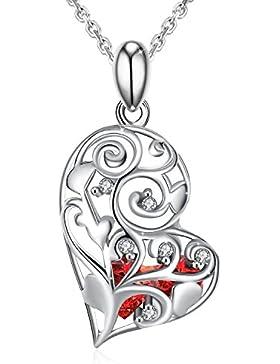 Herz Kette Damen, J.Rosée, Halskette Anhänger