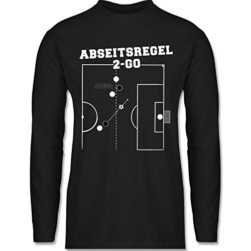Shirtracer Fußball - Abseitsregel-2-Go - Herren Langarmshirt Schwarz