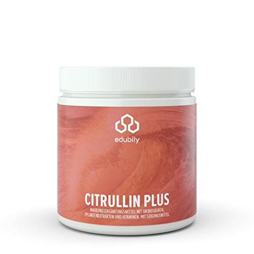 Citrullin Pulver, Pre-Workout Pump Supplement, L Citrullin Malat Pulver mit Taurin, Vitamin B12 Methylcobalamin, natürliches Vitamin C aus Acerola Extrakt, Metafolin 5 MTHF, mit Stevia 360 g