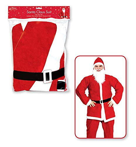 ALANNAHS ACCESSORIES Christmas Santa & Miss Claus Costumes Xmas Party Novelty Adults Womens Mens Santa Costume (Santa Claus Miss Und)