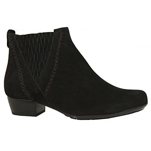 Gabor 56-642 Schuhe Damen Stiefeletten Weite G Wechselfußbett Black