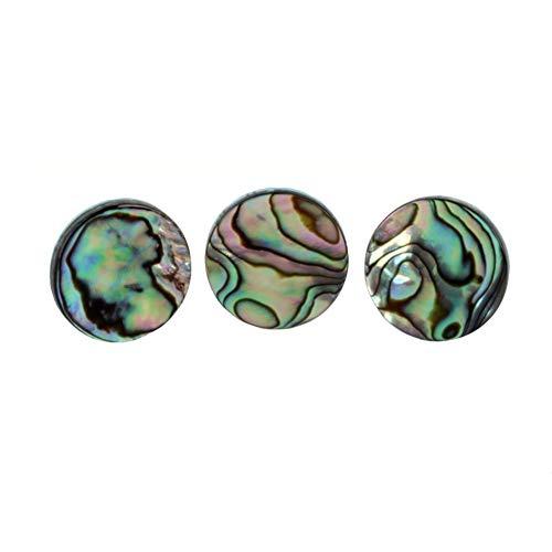 Leezo verchromt Abalone Shell Finger Taste Blasinstrumente Zubehör Trompete Werkzeug Musikliebhaber Geschenk Pack von 3 (Tasten Für Finger Trompete)