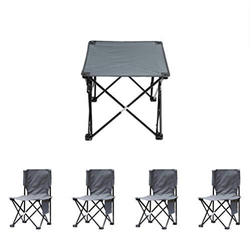 YUWJ Camping hocker Falten tragbare licht Camp hocker im freien billig tragbaren klappstuhl geeignet für Strand Grill Reise Picknick,Gray,fivepiece