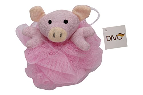 Divo Animal Bath Sponge Loofah, Pink