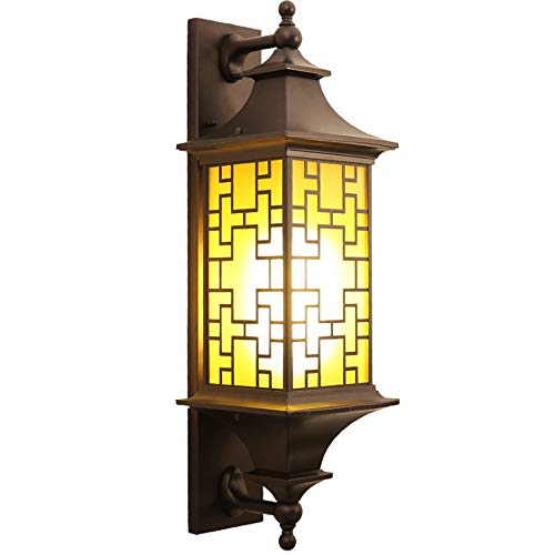 Garden New Courtyard Antique Villa Corridor Chinese Window Metal Aisle Sprsk Personality Wall Lamp Engraved Waterproof Grilles Aluminum Outdoor 7vb6Yfgy