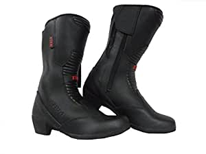 Motorcycle Ladies XTRM 102 Water Resistant Boots Size UK 6 Touring Urban Boots With Heel