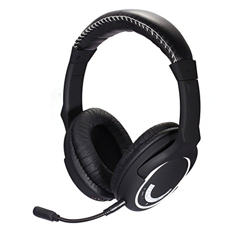 HUHD Xbox Faser Kabellose Optische 2014Datum High-End Hochleistungs 2,4GHz Dolby Digital, Xbox One, PS4, PS3, Xbox 360, PC Noise Cancelling Gaming Headset, aufsteckbar Mikrofon HW-390M - Dolby-digital-pc