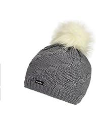 Eisbär Melissa Lux Gorro, Otoño-invierno, unisex, color graumele/White, tamaño S, M, L o XL