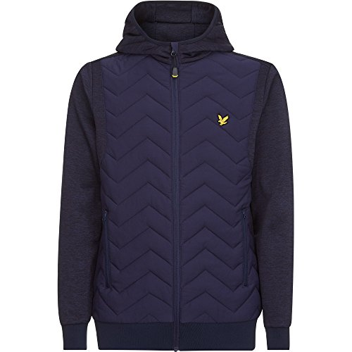 Lyle & Scott Herren Oates Hooded Zip Through Jacke Navy