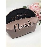Geschenk Trauzeugin Brautjungfer beste Freundin Schwester Mama - personalisierter Kosmetikbeutel in roségold mit Druck außen und innen