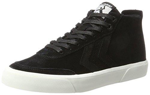 Hummel stockholm suede mid, scarpe da ginnastica alte unisex-adulto, nero (black), 41 eu